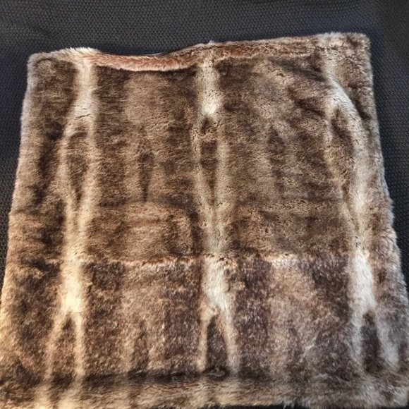 Pottery Barn Other - 2 faux fur euro shams